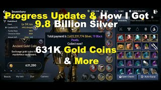 Black Desert Mobile Progress Update & How I Got: 9.8 Billion Silver, 631k Gold Coins,6k BP & More