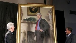 Monica's Blue Dress Casts a Shadow in Clinton Presidential Portrait