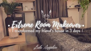 EXTREME Room Makeover Under $100 - I transform my friend's space, it turned out beautiful!