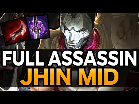 ONE SHOT KILL - Full Assassin Jhin Mid - League of Legends
