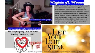 I am just an old Chunk of COAL ~ Virginia M  Werner -Language of Love Telethon ~ October 4, 2020