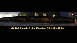 via rail 14 the ocean leaving moncton nb with 4 locos 12 30 17
