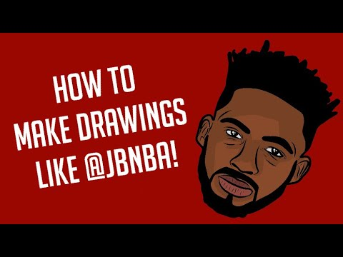 NBA Drawing Tutorial- Adobe Draw (IPad/IPhone) thumbnail