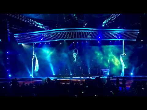 Aerial silks and Lyra performance for Usana Asia Pacific Convention by Adedance Aerial