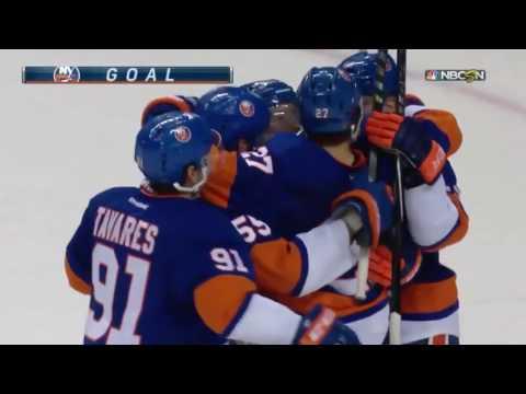 The Islanders score 2 goals in 3 seconds