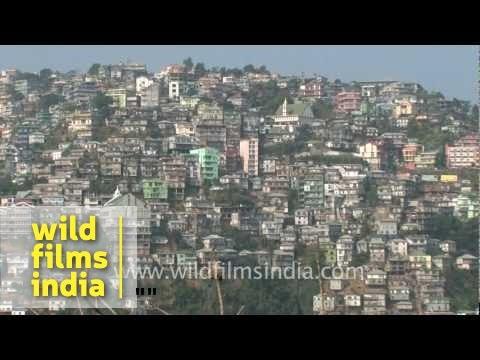 View of vertical Aizawl city, Mizoram!