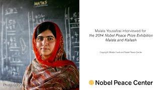 Malala's school uniform in the Nobel Peace Prize exhibition