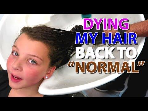 Dying My Hair Back To Normal | Blakely Bjerken
