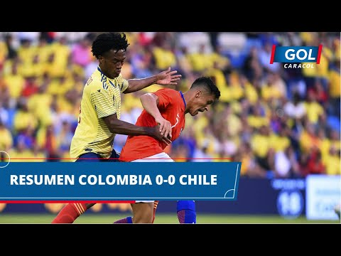 Colombia vs Chile (0 - 0): resumen y mejores acciones del partido