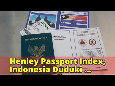 Henley Passport Index, Indonesia Duduki Peringkat ke-72 Dunia