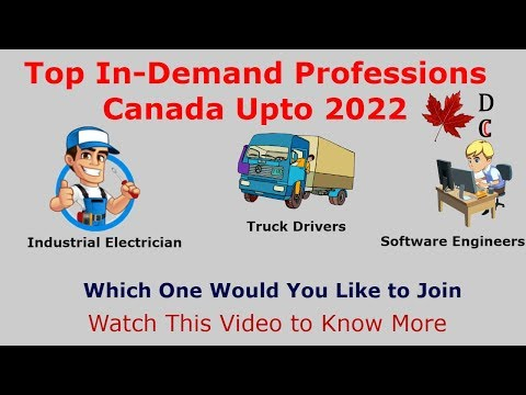 In-Demand Professions Canada | Canada In-Demand Jobs 2019 | Canada Professions High Salary