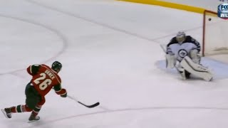 Thomas Vanek Slap Shot Breakaway Goal vs Winnipeg