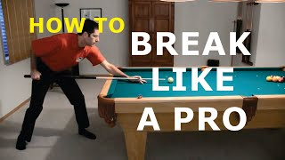 Pool Break Shot Technique Advice - How To Break - from Vol-III of the BU instructional DVD series