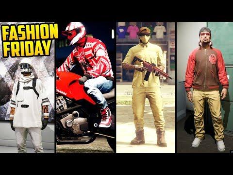 GTA Online FASHION FRIDAY! (The Sandman, Red Biker, Woodland Mercenary & More)