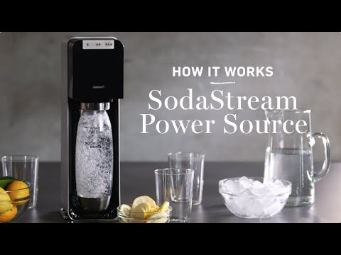 how it works sodastream power source sparkling water maker youtube. Black Bedroom Furniture Sets. Home Design Ideas