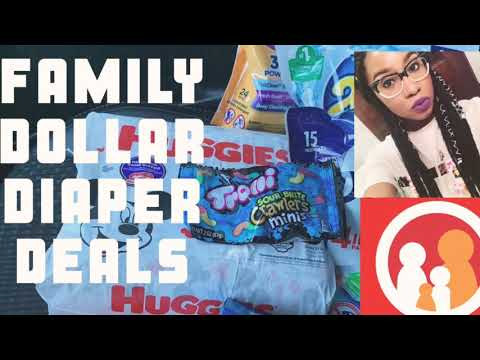 FAMILY DOLLAR DIAPER DEAL | MY STORE WAS OUT OF EVERYTHING | HOW TO IMPROVISE |