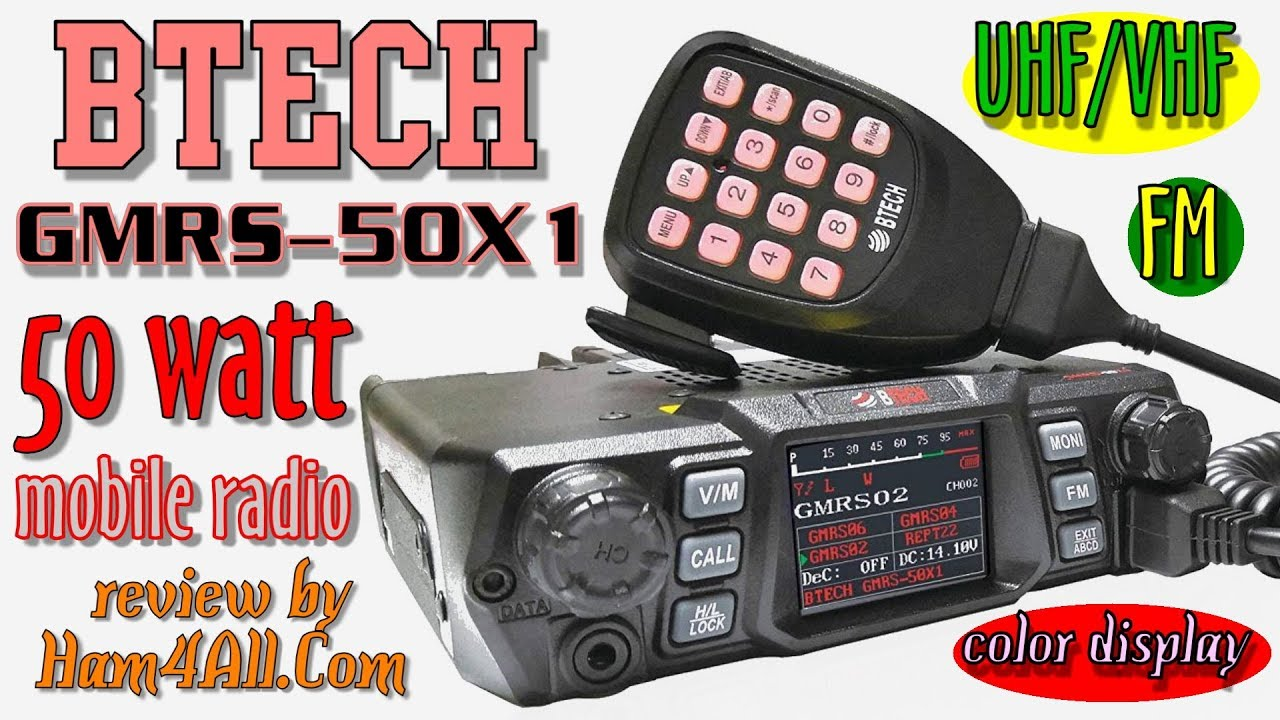 BTECH GMRS-50X1 - The best and most detailed review!