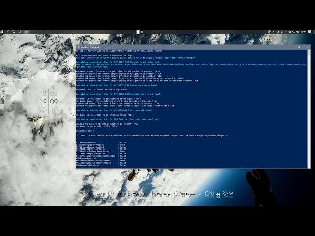 Activer RetPoline pour atténuer les failles Spectre et Meltdown sur Windows 10