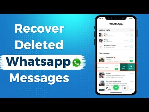 How To Recover Deleted WhatsApp Messages From IPhone (Without Backup) Retrieve Whatsapp Messages