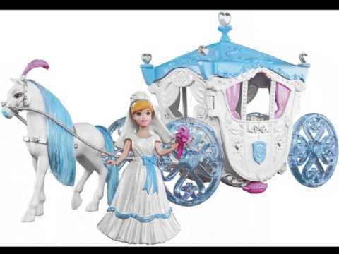 disney princess cinderella carriage and horse toy youtube