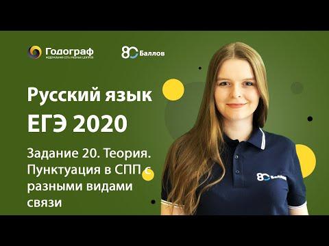 ЕГЭ по Русскому языку 2020. Задание 20. Теория. Пунктуация в СПП с разными видами связи