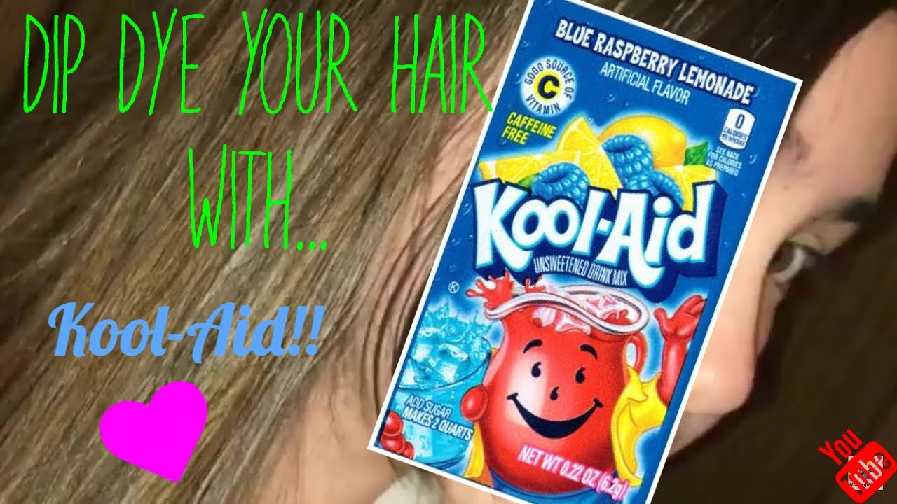 How To Dip Dye Your Hair With Kool Aid Tutorial Youtube