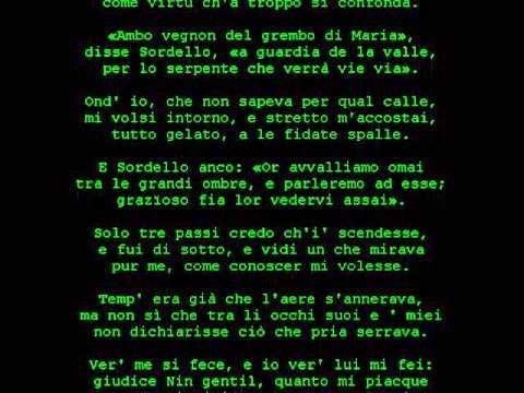 canto VIII purgatorio