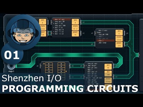 PROGRAMMING CIRCUITS - Shenzhen I/O: Ep. #1 - Gameplay & Walkthrough