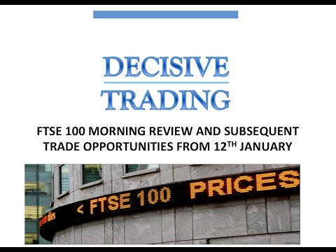 FTSE Review + Live Trade 12th January