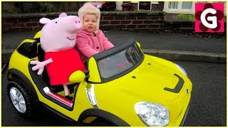 Gaby`s First Ride On Toy Power Wheels Car with Peppa