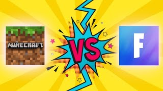 Minecraft vs Fortnite who's really better?🤔