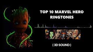 Top 10 Marvel Hero Ringtones | 3D sounds | 2018