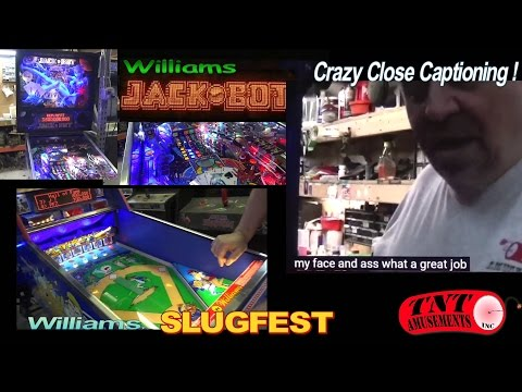 #998 Williams JACKBOT Pinball Machine & Williams SLUGFEST Baseball Game - TNT Amusements