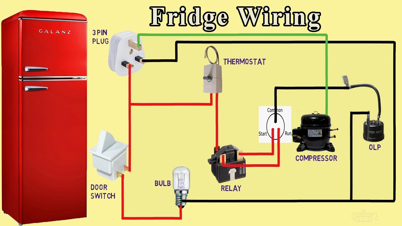 Fridge Wiring diagram refrigerator wiring - YouTube | Refrigerator Wiring Diagram |  | YouTube