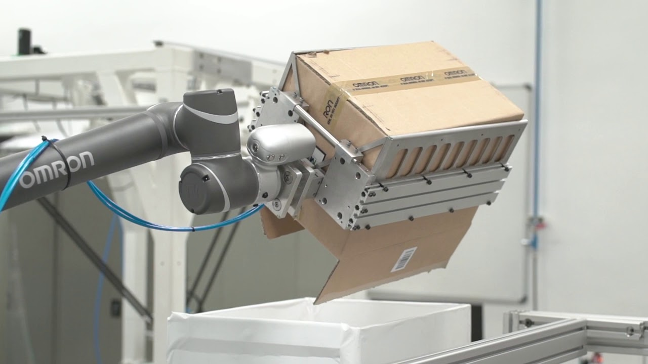 Omron Integrated and Connected Secondary Packaging Line