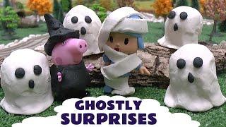 Peppa Pig Halloween Play Doh Disney Movie Ghostly Surprises Pocoyo Thomas & Friends Diesel Pepa