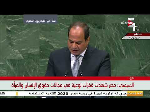 الرئيس السيسي: نؤمن بأن الأمم المتحدة قادرة على استعادة المبادئ السامية التي تأسس عليها ميثاقها  - نشر قبل 14 ساعة