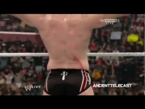 sheamus announce table injury wwe raw 3 12 12 youtube. Black Bedroom Furniture Sets. Home Design Ideas