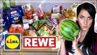 🍉 XXL FOOD HAUL WOCHENEINKAUF MIT PREISEN 🍎 LIDL & REWE | Angebote | AUSGEWOGENE ERNÄHRUNG
