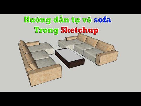 Bài 07.  Hướng dẫn vẽ ghế sofa trong sketchup tự học sketchup Tự học sketchup từ a-z