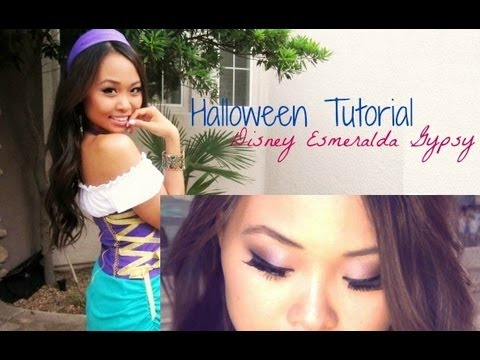 Esmeralda Gypsy Disney Halloween Tutorial  sc 1 st  YouTube & Esmeralda Gypsy Disney Halloween Tutorial - YouTube