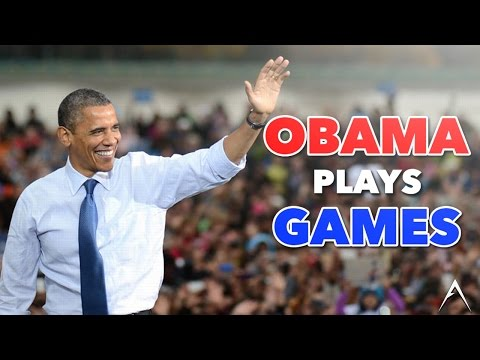 Obama Plays Video Games on his Last Day!
