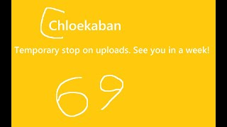 Temporary stop on uploads. See you in a week! - Chloekaban