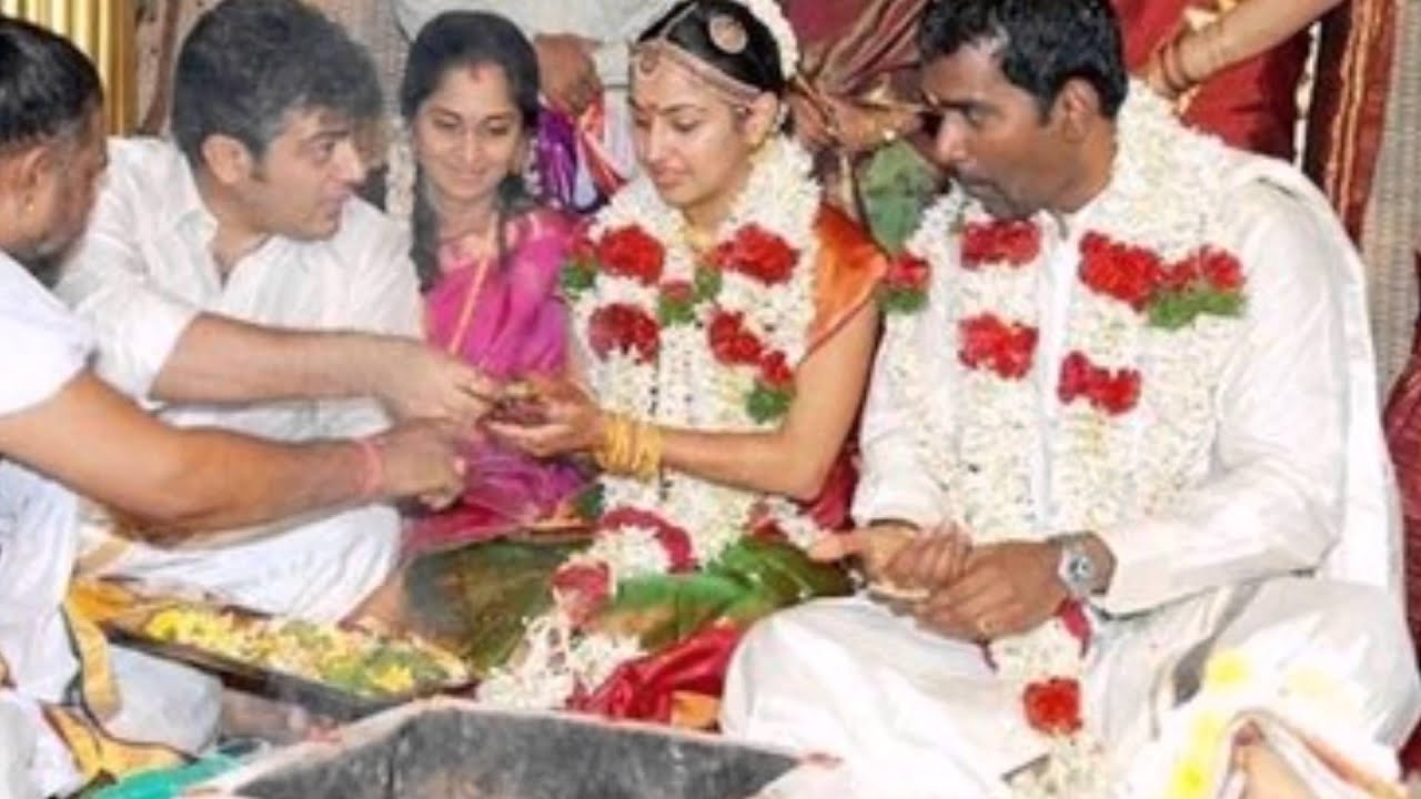 Tamil Actor Ajith Kumar At His Sister In Law Shamili Wedding Rare And Unseen