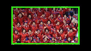 (Olympics) N. Korean cheerleaders root for speed skaters from both Koreas
