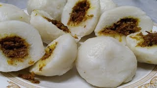 How to make tasty STUFFED RICE BALL..............