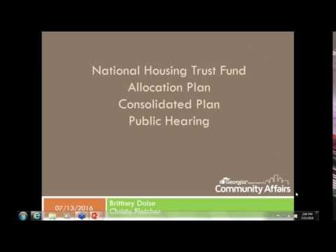 Georgia National Housing Trust Fund Public Hearing (July 13, 2016)