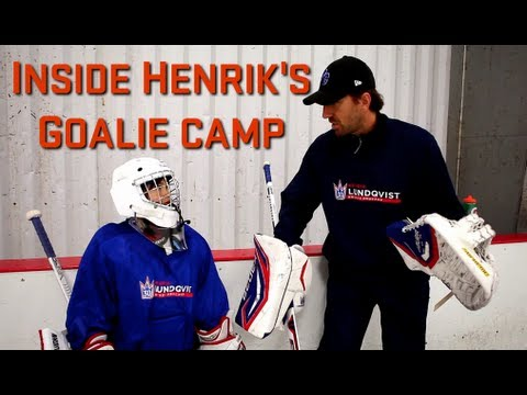 Inside Henrik Lundqvist S Goalie Camp Youtube