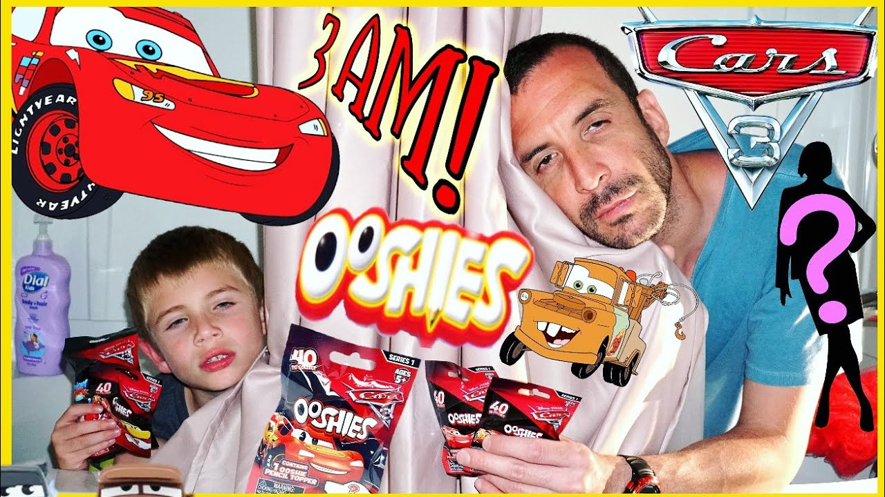 NEW CARS 3 OOSHIES 3AM CHALLENGE Blind Bag Opening - SQUISHY POPS MASHEMS Disney Pixar CARS 3 ...