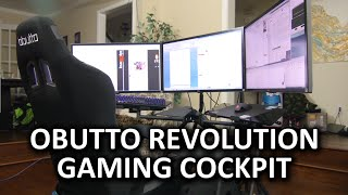 Obutto Revolution Gaming Cockpit - The ULTIMATE Workstation Computer Setup?